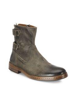 John Varvatos   Leather Almond Toe Booties