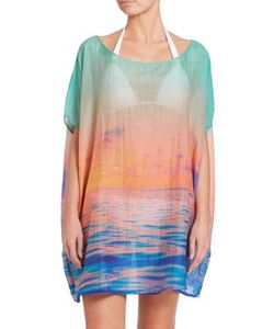Samudra | Lagoon Sunsets Cotton Silk Caftan