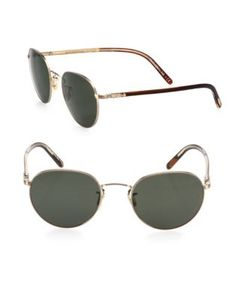 Oliver Peoples | Hassett 52mm Round Sunglasses