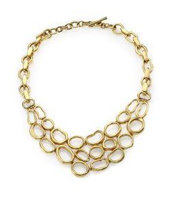 Vaubel | Hammered Oval Bib Necklace