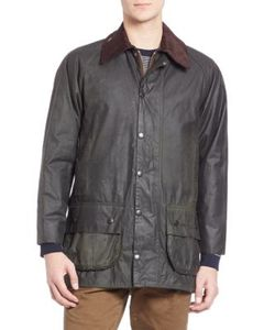 Barbour | Washed Ribbed Collar Jacket