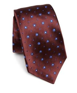 Kiton | Circle Patterned Silk Tie