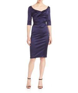 Talbot Runhof | Ruched Satin Dress