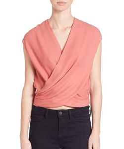 L'agence | Lee Silk Crossover Blouse