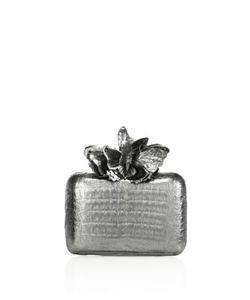 Nancy Gonzalez | Metallic Crocodile Butterfly Box Clutch