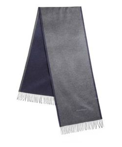 Salvatore Ferragamo | Two-Tone Fringed Silk Scarf