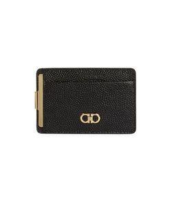 Salvatore Ferragamo | Pebbled Leather Money Clip Card Case