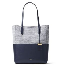Michael Kors Collection | Eleanor Large Techno Cotton Leather Tote