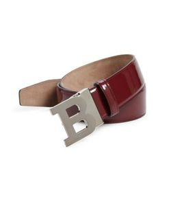 Bally   Logo Buckle Calf Leather Belt