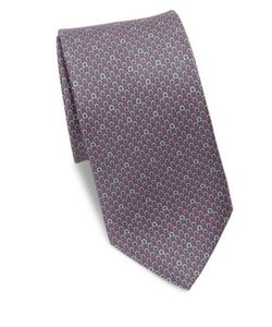 Salvatore Ferragamo | Gancini Logo Silk Tie