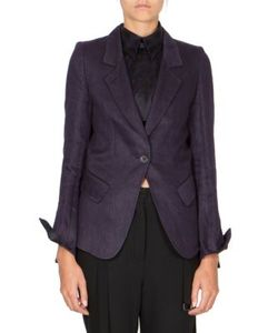 Ann Demeulemeester | Notched Linen Jacket