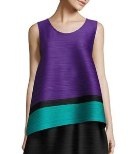 Pleats Please By Issey Miyake | Bounce Striped Tank
