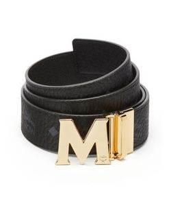 MCM | Textured Leather Belt