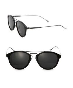Dior Homme | 52mm Round Mirrored Bridge Sunglasses