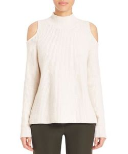 Zoe Jordan | Hawking Wool Cashmere Cold-Shoulder Sweater