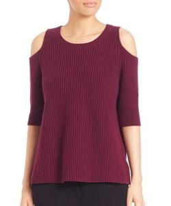 Zoe Jordan | Dias Wool Cashmere Cold-Shoulder Sweater