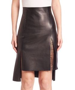 Akris | Hi-Lo Leather Skirt