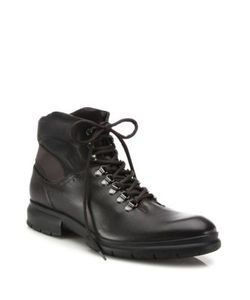 Salvatore Ferragamo | Leather Lace-Up Boots