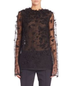 Jason Wu | Embroidered Houndstooth Lace Top