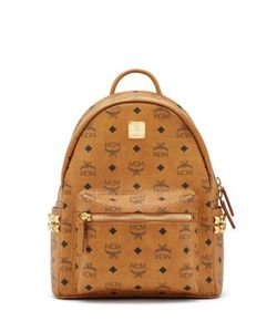 MCM | Stark Studded Coated Canvas Backpack