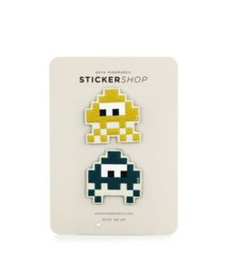 Anya Hindmarch | Space Invaders Leather Stickers/Set Of 2