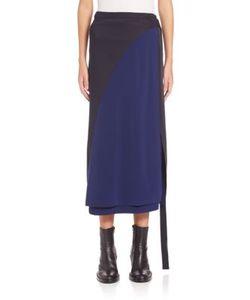 Cédric Charlier | Colorblock Wrap Midi Skirt