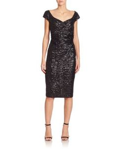 Talbot Runhof | Kortney Sequin Dress