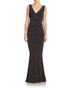 Talbot Runhof | Bossa Glitter Cloque Jersey Gown