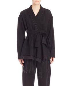 MS MIN   Ribbed Wool Kimono Jacket