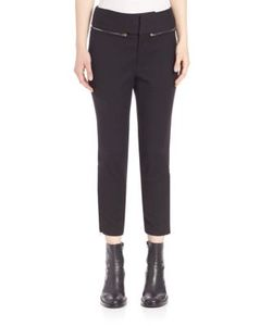 MS MIN | Zipper Accented Cropped Pants