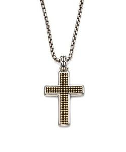 John Hardy | Classic Chain Collection Sterling Silver Cross Necklace