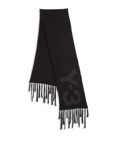 Y-3 | Merino Wool Cotton Graphic Scarf