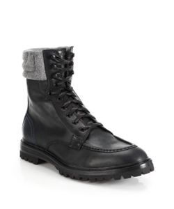 Cole Haan | Judson Leather Tall Lace-Up Boots