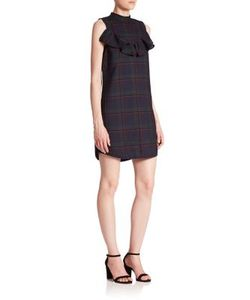 Suno | Wool Silk Ruffle Tunic Dress