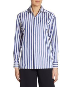 Ralph Lauren Collection | Capri Striped Cotton Shirt