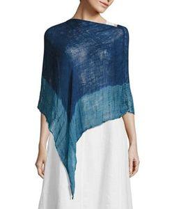 Eileen Fisher   Shibori Organic Linen Poncho