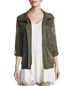 Joie | Ancil Embroidered Military Jacket