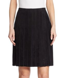 Akris | Pleated Suede Skirt