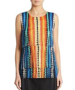 Pleats Please By Issey Miyake | Printed Tiered Top