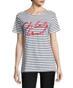 Each X Other | Striped Cotton Graphic Tee