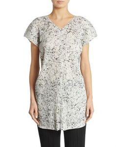 Pleats Please By Issey Miyake | Marble Printed Tunic Top