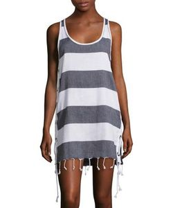 Koza | Lebron Stripe Side-Lace Dress