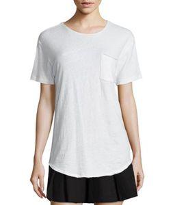 R13   Solid Short Sleeve T-Shirt