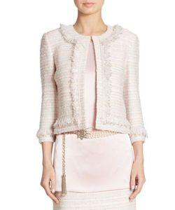 St. John | Frayed Tweed Jacket