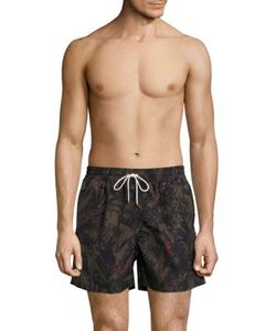 Salvatore Ferragamo | Foliage Printed Swim Shorts