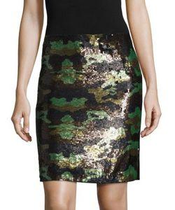 L'agence | Phoebe Sequin Camo Skirt