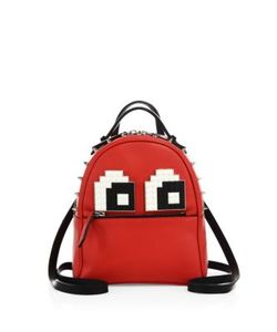 Les Petits Joueurs | Mick Eyes Micro Spiked Leather Backpack