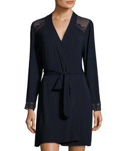 Eberjey   Cecilia Lace Cuff Robe