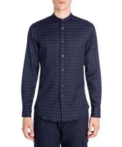 Emporio Armani | Thin Cut Away Jacquard Shirt