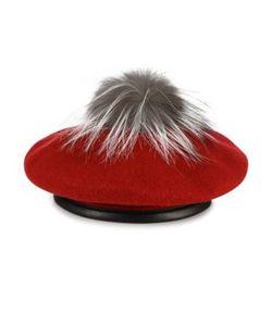 Eugenia Kim | Hadley Hadley Fox Fur Wool Leather Beret